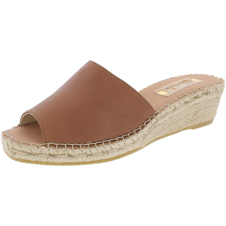 1486828bd798 Get Quotations · Vidorreta Womens Summer Open Toe Casual Wedge Sandals  Brown 40 Medium(B
