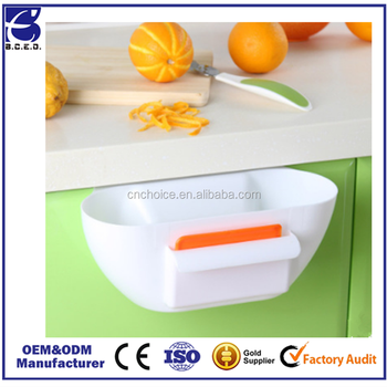 Ningbo Eco-Friendly Kitchen Cupboard Drawer Door Waste Bin Scrap Trap Storage Box Bowl Dustbin