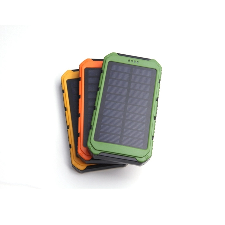 Wholesale Universal Dual USB Ports 10000mah Solar Power Bank for Digital Device