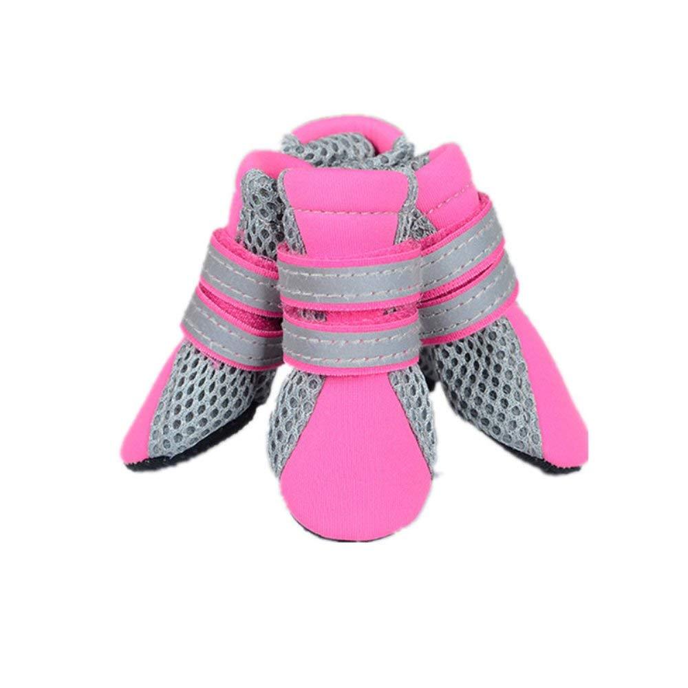 4pcs Pet Dog Neoprene Mesh Fabric Shoes Puppy Non-Slip Boots Chihuahua Teddy