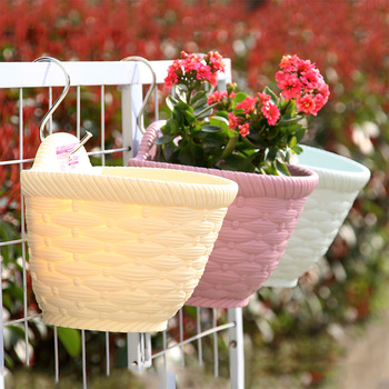Succulent Plants Flower Pots Plastic Hang Wall Pot