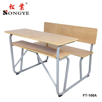 Best quality 2 person detachable school furniture FT-106I Fixed desk & chair classroom