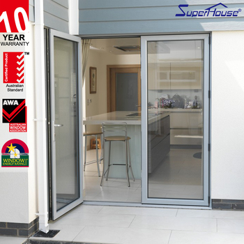 China Glass Door Manufacturers Double Panel Aluminum Luxury Exterior Metal Do