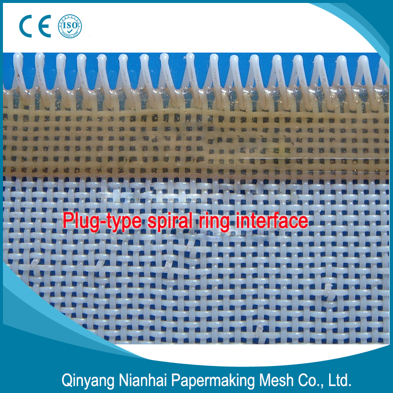 Pin ring interface polyester fabrics for Square hole papermaking mesh