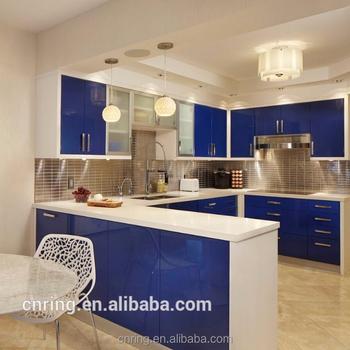 Color Azul Inicio Muebles De Cocina Pop Moderno Pino Muebles ...