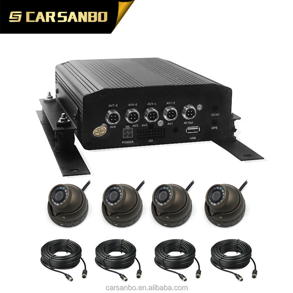 School Bus Car AHD Black Box MDVR Kit With Video Recorder Function And 4 AHD camera 4pcs Extra Cable School Bus DVR Kit
