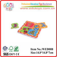 2017 good wood & wooden number puzzle toys