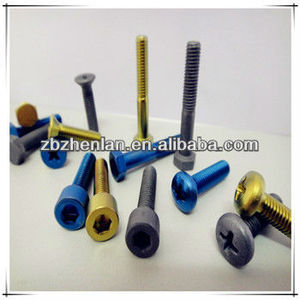 din912 anodized titanium socket/steeple head screw