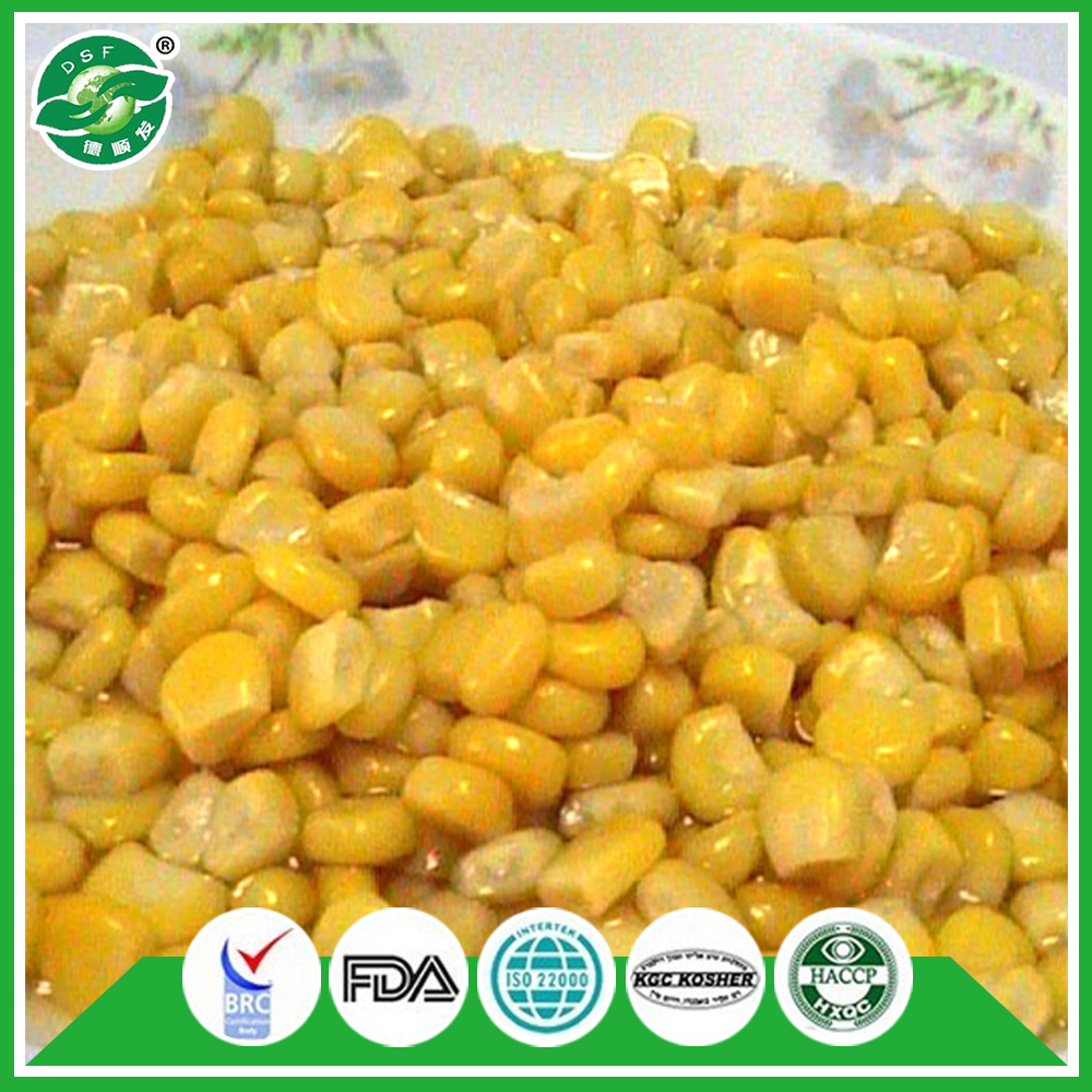 Long-term pass FDA sweet yellow canned vegetable corn price