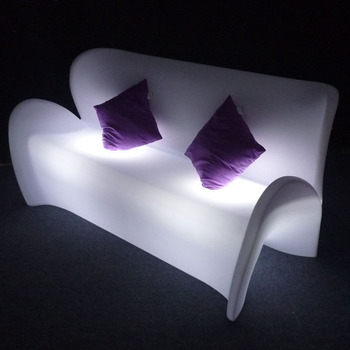 Led Light Up Outdoor Furniture / Modern Outdoor Plastic Sofa ...