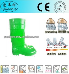 industrial safety rain boots PVC rain boots green color