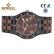 Bamboo luminous pointers wood watch day display original grain big dial watches for men
