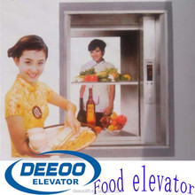 Convenient food lift dumbwaiter elevator with Gearless traction machine