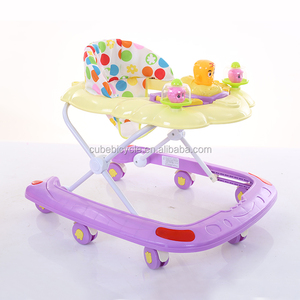Alibaba Wholesale 2018 new PP plastic beach style toys baby walker with 8 swivel wheels walk along toys