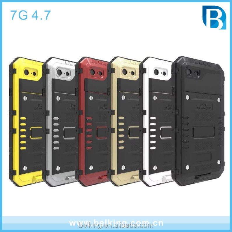 For Iphone 7 Shockproof Dustproof Waterproof Metal Case