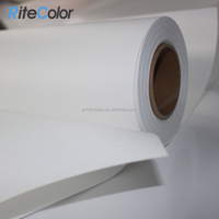 260gsm Fine Textured 100% Polyester Matte Inkjet Plotter Canvas Roll with Bright Whiteness and No Cracking
