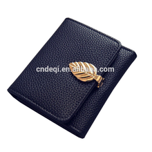 DEQI 방수 패션 싼 Custom Logo Short Women Lady PU Leather 좌 버클 PU Leather 지갑 Coin Purse Pouch <span class=keywords><strong>돈</strong></span> <span class=keywords><strong>클립</strong></span>
