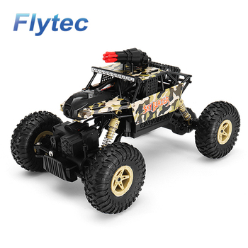 Flytec 18428-A 1/18 2.4G 4WD Missile Rc Car With 0.3MP WIFI FPV Off-road Rock Crawler Remote Control Car RTR