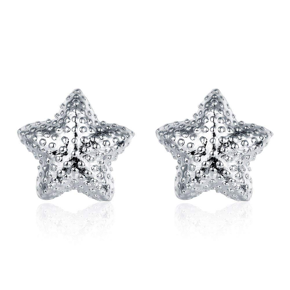 cceb53171 Get Quotations · Love Knot Twist Post Stud Earrings Silver Star Earrings  Stud Mothers Day Gifts