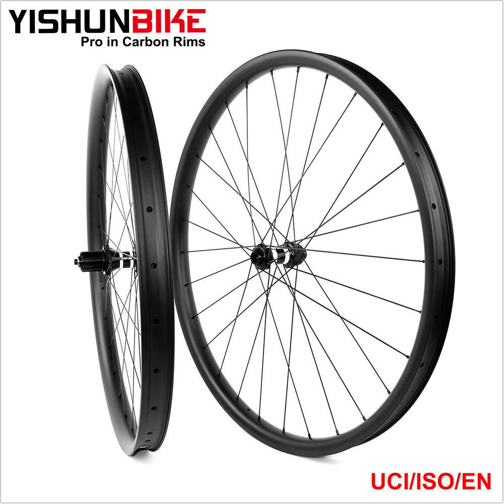 2017 29 inch Plus Cheap Bike OEM Carbon Wheel Bicycle Wheels set Taiwan with UCI Standard