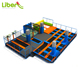 Cheap Indoor Ninja Course Trampoline Park, Foam Pit Bungee Trampoline for Free Jumping