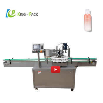 Automatic plastic water bottle ,metal  rotary capping machine