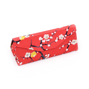 Cmyk Printing Triangle Folding Handmade Reading Glasses Case For Gift