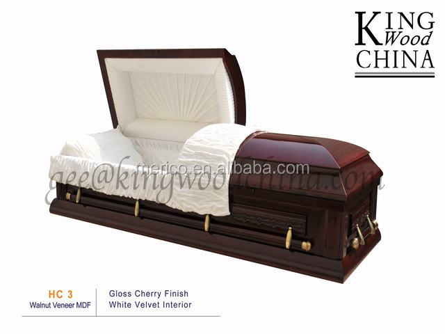 HC4 american style funeral coffin casket interiors casket decoration import from china