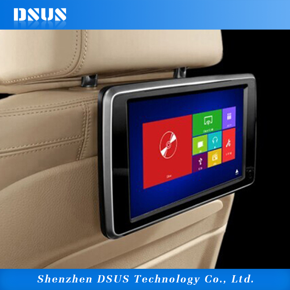 "10.1"" Touch Screen USB SD Reader Airplay Mirroring Headrest Car DVD Player Slot-in DVD Loader"