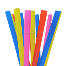 Factory Wholesale PP Plastic Disposable Colorful Large Smoothie Straws, 10inch 50ct