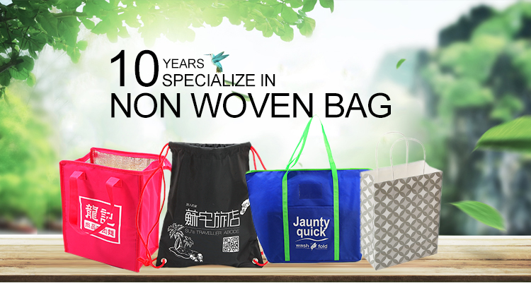 OEM production recyclable pp garment suit non woven bag with logo