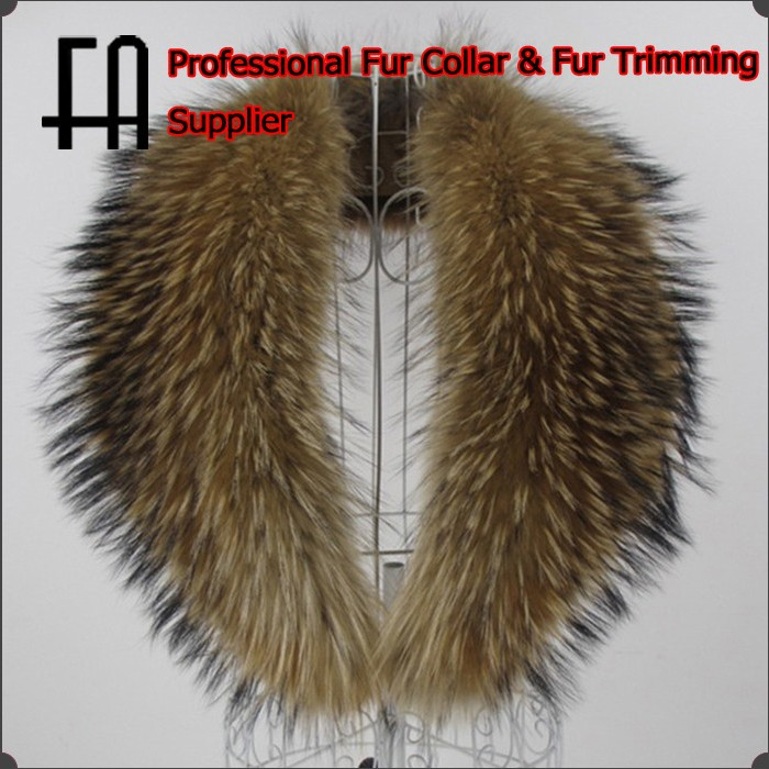 Factory direct wholesale fur collar/raccoon fur collar/fur shawl collar for coat