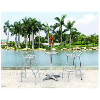Outdoor garden aluminium bar table and chairs