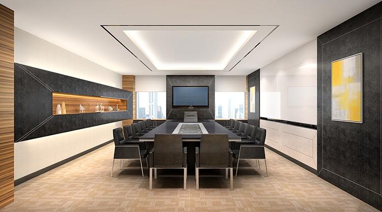 Luxury Conference Room Furniture 6 Meters Meeting Table