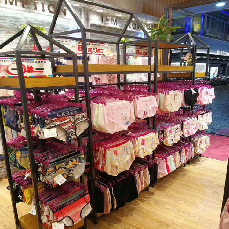 92bbc1d8a Outlet Retail Bra Display Rack Wooden Lingerie Stand For Shop Fitting