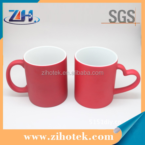 heart handle sublimation blanks cups magic photo cup sublimation