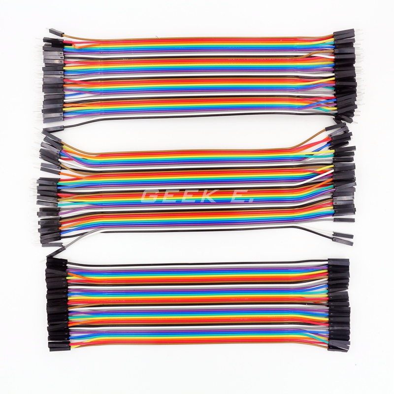 3 Row of 120 Pcs 20cm 1P-1P Female to Female + Male to male + Female to male Dupont Line Cable Colorful Jumper Wire  for Arduino