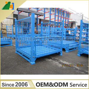 Heavy Duty Storage Cage Welded Wire Mesh Container Foldable Metal Container