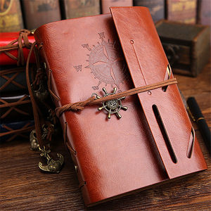 Vintage classic retro leather journal notebook for gift