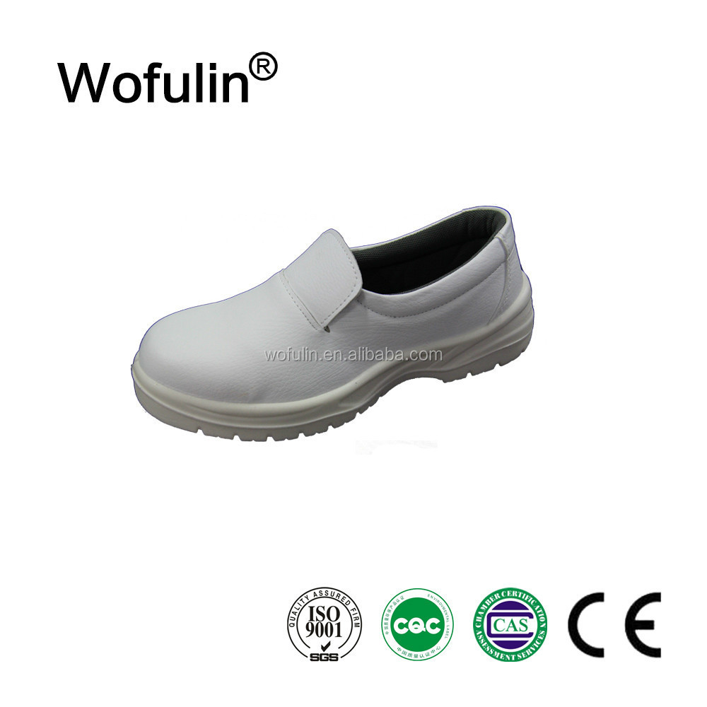 Wofulin brand white kitchen lab food industry safety shoes