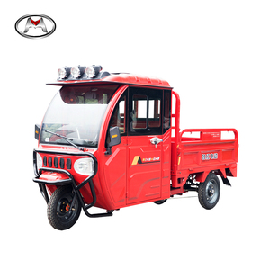 China supplier three wheel cargo tricycle closed cabin good price 2019