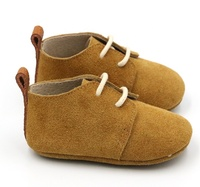 Manufacturer Suede Leather Soft Sole Baby Girl Boy Oxford Shoes
