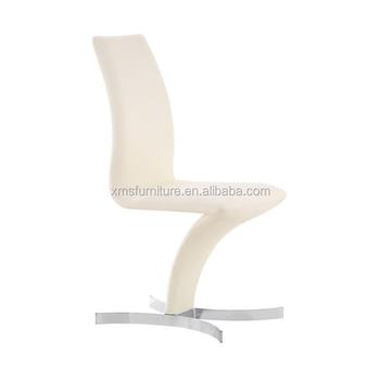 Comfort Nuovo Design Pelle Bianca Gambe In Acciaio Cromato A Zig-zag ...