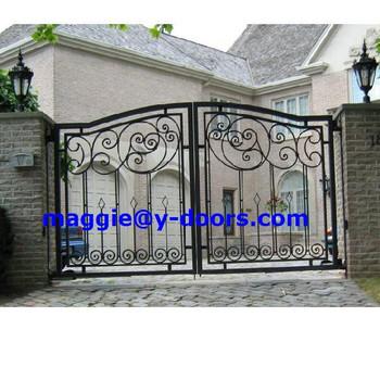 Wrought Iron Garden Main Gate Designs For Exterior Entry Steel