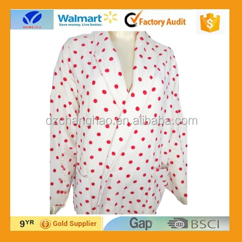 wholesale!!Women's Cotton Print Flannel Bathrobe Robe