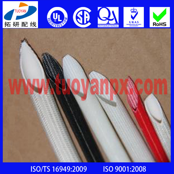 High Quality Abrasion Resistant Silicone Coated Fiberglass sleeve For High Temperature Applications