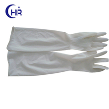 "Non Sterile Elbow Length Gynecological Procedure Latex Gloves 450mm (18"" long) With Powdered"