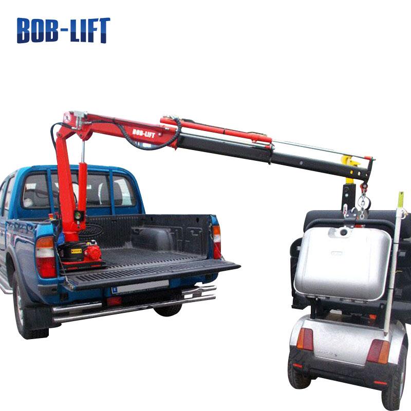 Small Lift Remote Control Electric Winch Pickup Truck Crane