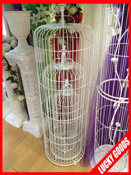 White Decorative Round Large Metal Bird Cage For