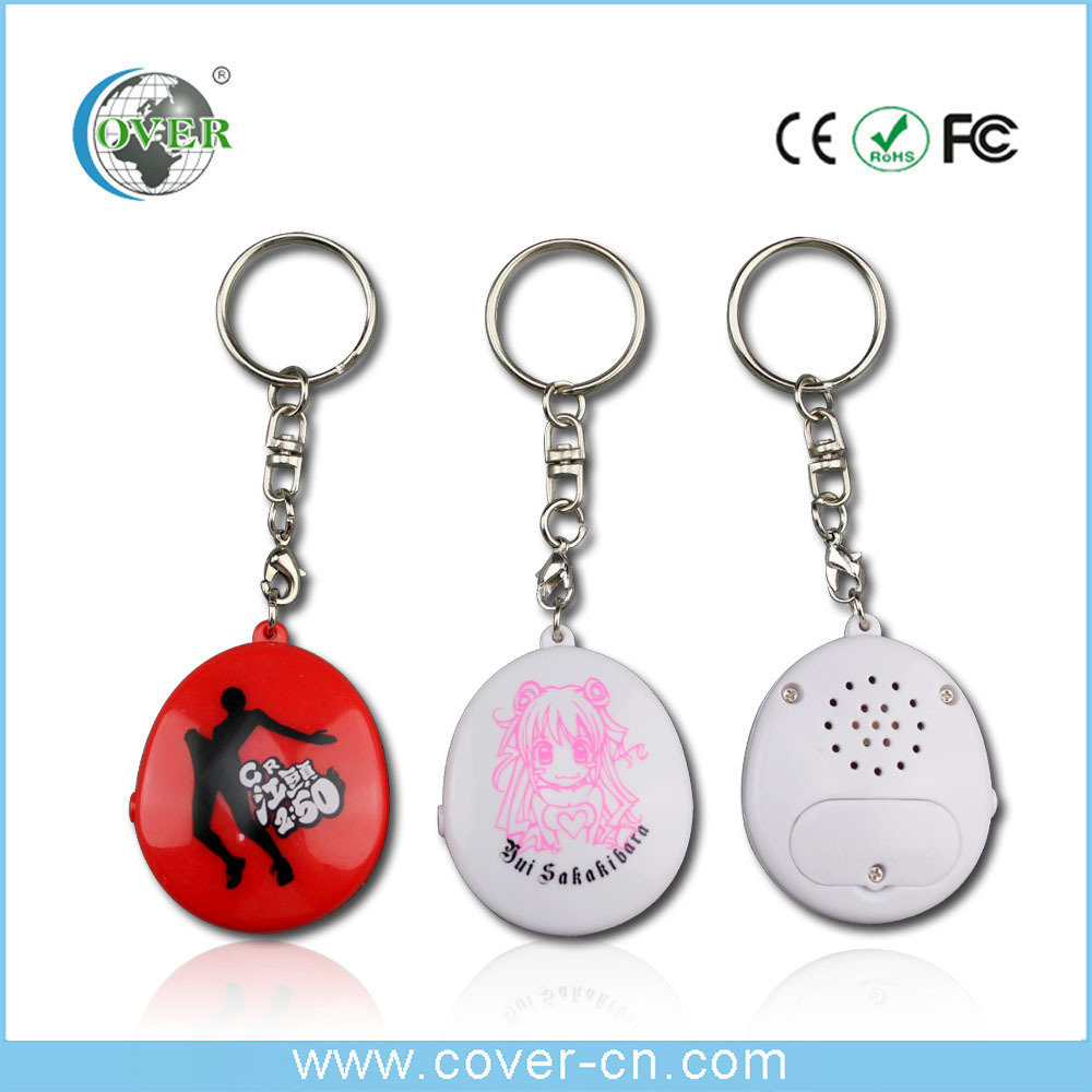 cheap custom silicone lanyard voice talking music keychains